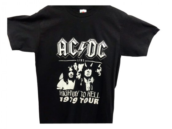 Camiseta AC/DS High way to Hell Tour 1979